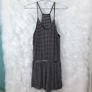 Brandy Melville Black and white striped romper OS